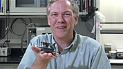 Dr. Ron Fearing – UC Berkeley Professor Dept. of EECS with a cockroach-inspired robot.